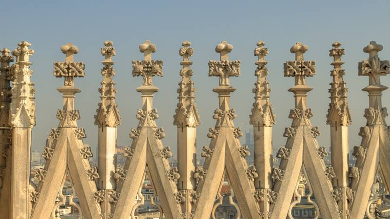 Spires of a cathedral